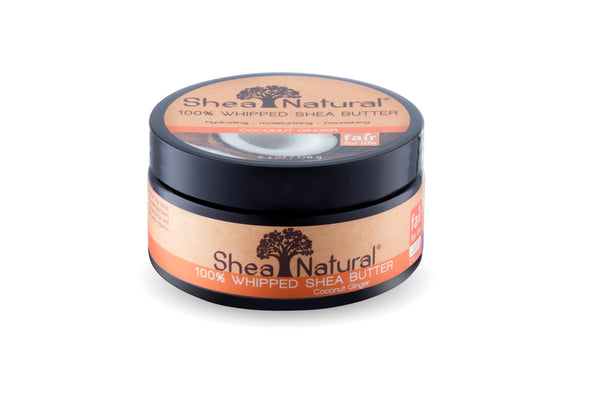 WHIPPED UNREFINED SHEA BUTTER - COCONUT GINGER 6.3 OZ