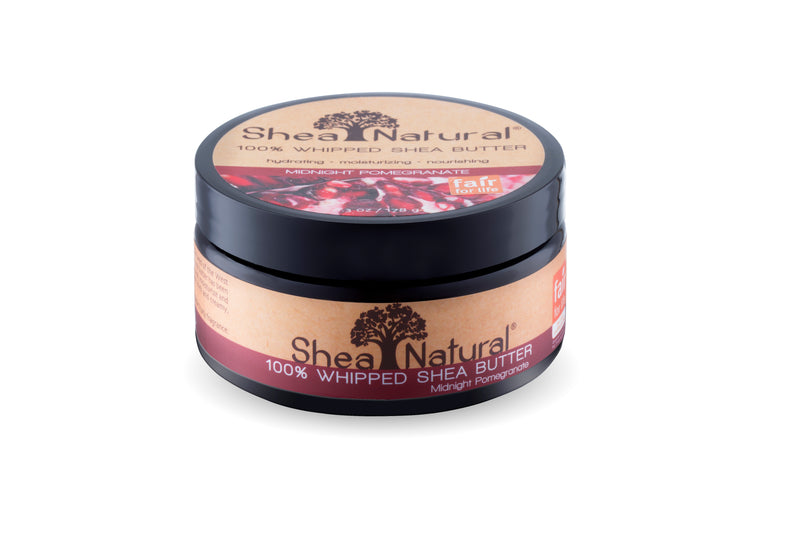 WHIPPED UNREFINED SHEA BUTTER - MIDNIGHT POMEGRANATE 6.3 OZ