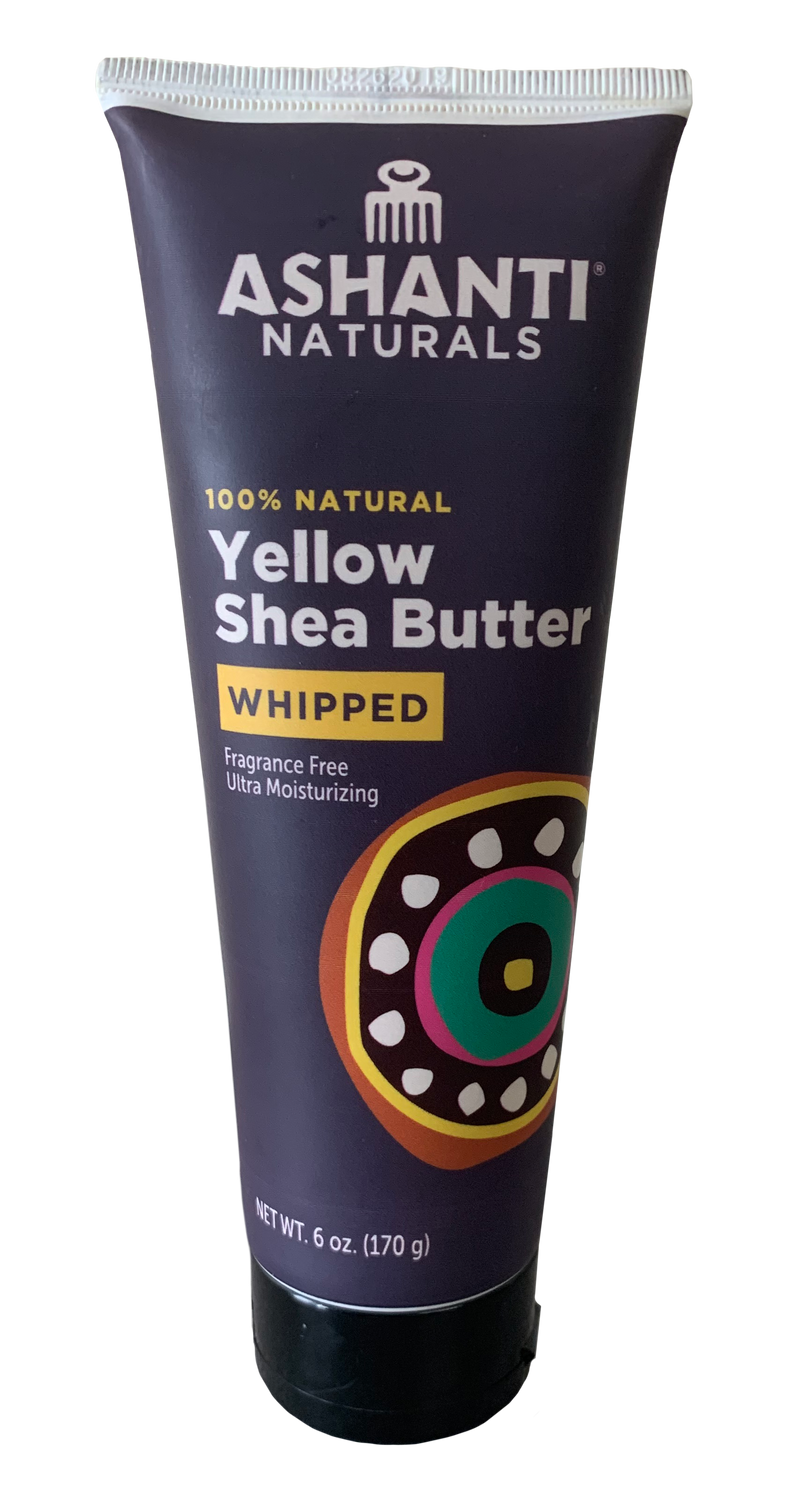 ASHANTI - 100% CREAMY YELLOW AFRICAN WHIPPED SHEA BUTTER TUBE 5.3OZ
