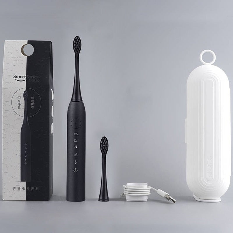 ORAL SONIC ELECTRIC TOOTHBRUSH - KEEPS TEETH BRIGHT, HEALTHY, & CLEAN