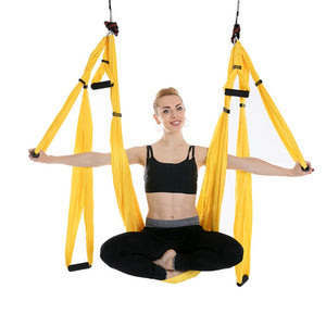 AERIAL YOGA SWING - IT'S LIKE A PROFESSIONAL YOGA CLASS IN YOUR HOME!