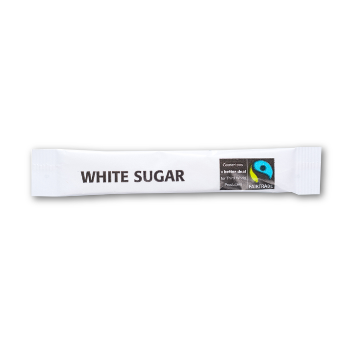 Fairtrade White Sugar Sticks - 1000 x 3.5gm
