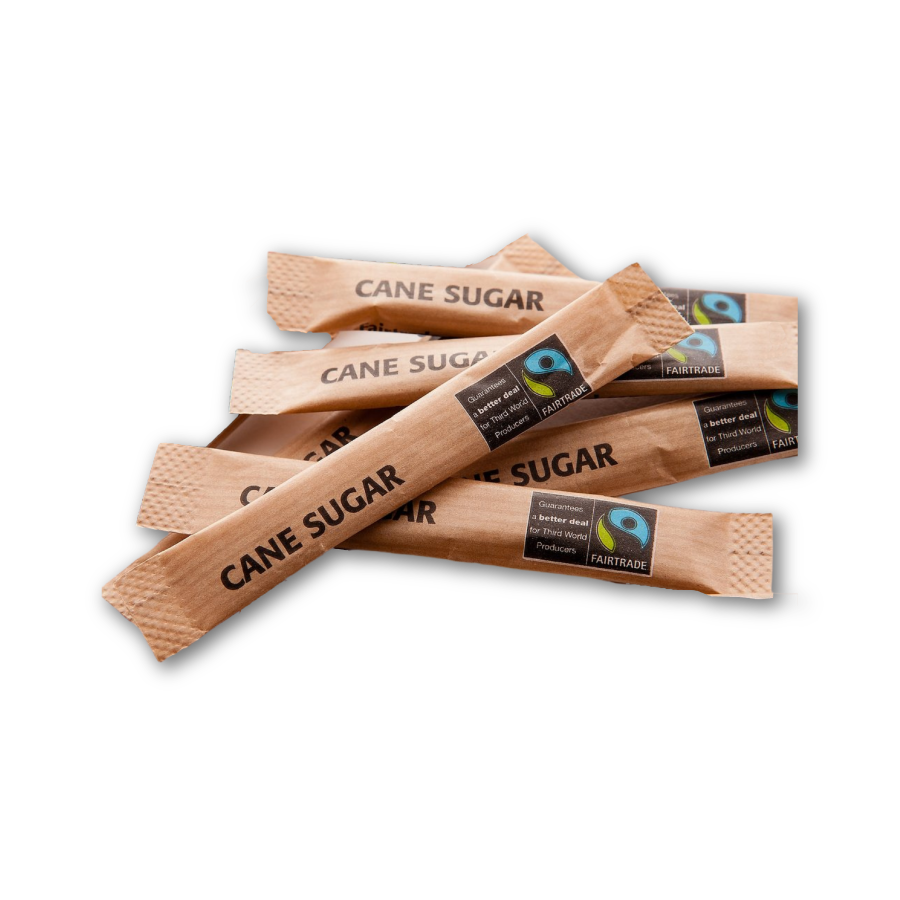 Fairtrade Brown Sugar Sticks - 1000 x 3.5gm