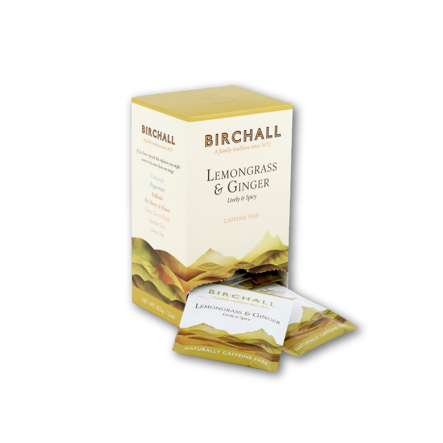 Birchall Lemon Grass & Ginger Tea - 1 x 25