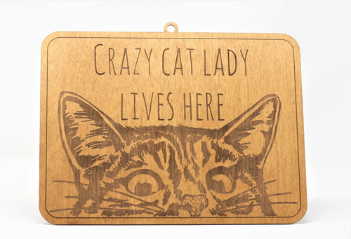 Crazy Cat Lady Lives Here Sign