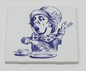 White Porcelain Alice in Wonderland Tiles