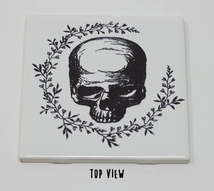 White Porcelain Skull Tiles