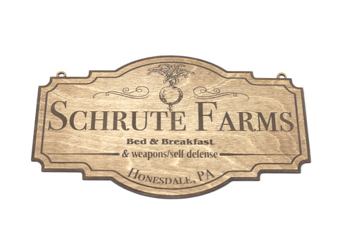 Schrute Farms Sign