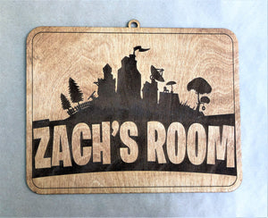 Personalized Fortnite Hanging Wood Sign