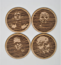 Load image into Gallery viewer, Solid Oak Monster Coaster Set