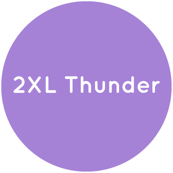 Purple circle with the text 2XL Thunder in white.