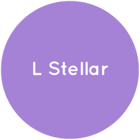 Purple circle with the text L Stellar in white.