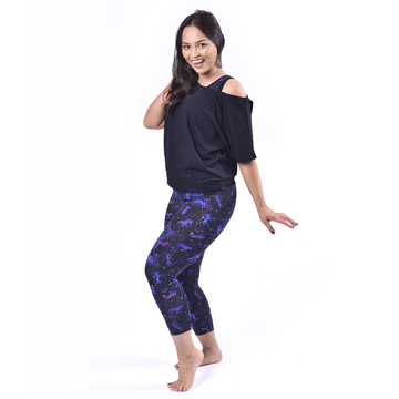 3/4 Length High Waist Organic Cotton Leggings - Uni-verse