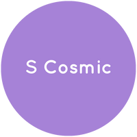 Purple circle with the text S Cosmic in white.
