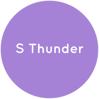 Purple circle with the text S Thunder in white.