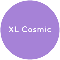 Purple circle with the text XL Cosmic in white.