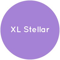 Purple circle with the text XL Stellar in white.