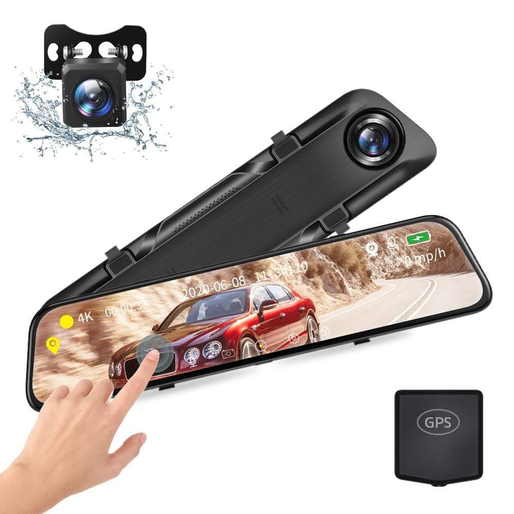 Vantop H612T 4K HD Mirror Dash Cam with GPS