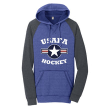 Load image into Gallery viewer, Air Force Club Hockey - District Lightweight Fleece Raglan Hoodie