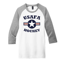 Load image into Gallery viewer, Air Force Club Hockey - District Very Important Tee 3/4-Sleeve Raglan