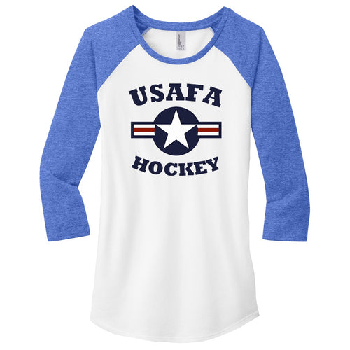Air Force Club Hockey - District Women's Fitted Very Important Tee 3/4-Sleeve Raglan