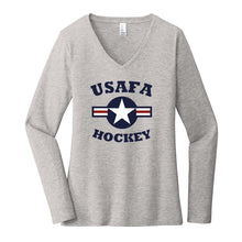 Load image into Gallery viewer, Air Force Club Hockey - District Women's Very Important Tee Long Sleeve V-Neck