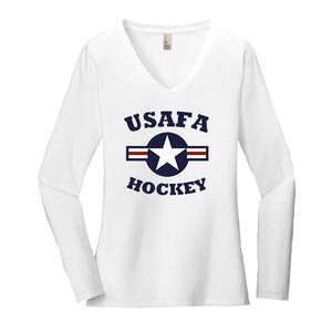Air Force Club Hockey - District Women's Very Important Tee Long Sleeve V-Neck