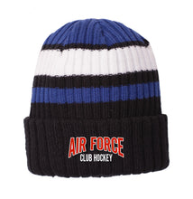 Load image into Gallery viewer, Air Force Club Hockey - New Era Ribbed Tailgate Beanie