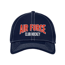 Load image into Gallery viewer, Air Force Club Hockey - New Era Stretch Mesh Contrast Stitch Cap