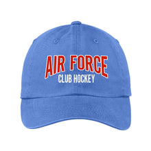 Load image into Gallery viewer, Air Force Club Hockey - Port Authority Garment Washed Unstructured Cap
