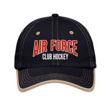 Load image into Gallery viewer, Air Force Club Hockey - Port Authority Vintage Washed Contrast Stitch Unstructured Cap