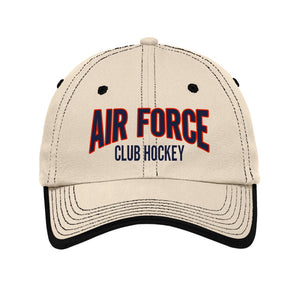Air Force Club Hockey - Port Authority Vintage Washed Contrast Stitch Unstructured Cap