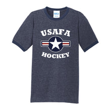 Load image into Gallery viewer, Air Force Club Hockey - Core Cotton Ringer Tee