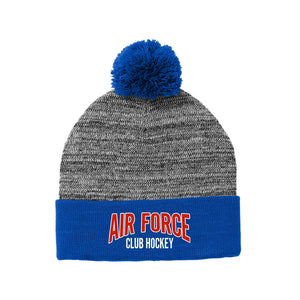 Air Force Club Hockey - Sport-Tek Heather Pom Pom Beanie