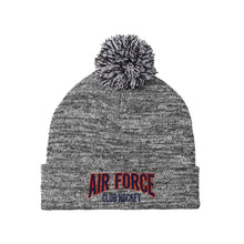 Load image into Gallery viewer, Air Force Club Hockey - Sport-Tek Heather Pom Pom Beanie