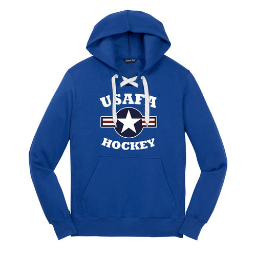 Air Force Club Hockey - Sport-Tek Lace Up Pullover Hooded Sweatshirt