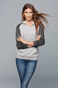 (LIMITED EDITION) Feathers + Chirps Christmas - District Women's Lightweight Fleece Raglan Hoodie