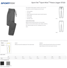 Load image into Gallery viewer, Air Force Club Hockey - Sport-Tek Sport-Wick Fleece Jogger