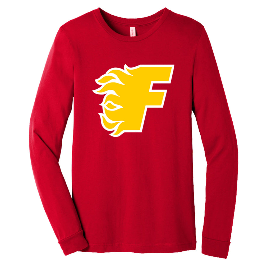Gulf Coast Flames - BELLA+CANVAS Unisex Jersey Long Sleeve Tee (BC3501)