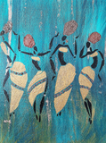 Ladies Dancing Original Canvas Painting