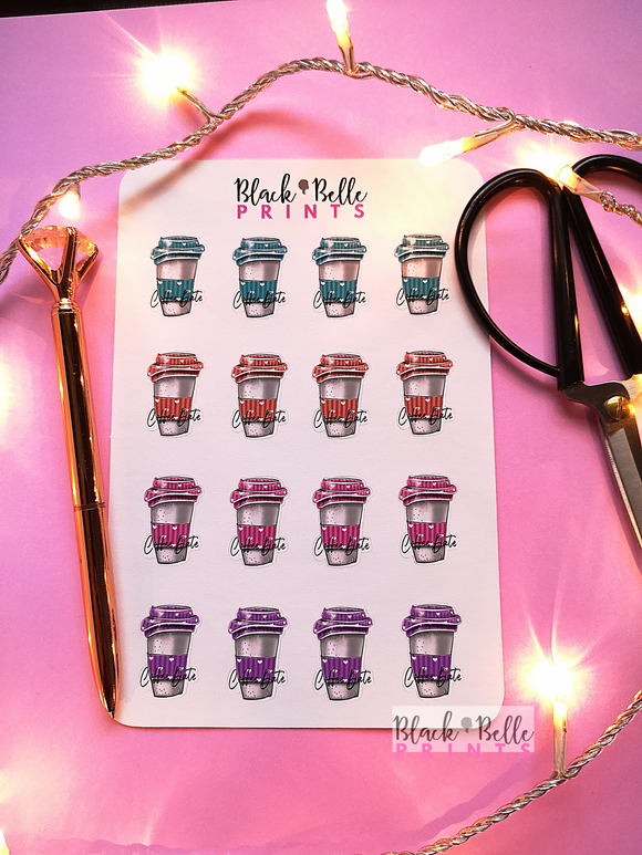 Coffee Date Planner Sticker Sheet