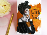 More Faith Than Fear Postcard
