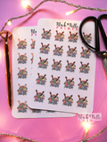 Wash Day Planner Sticker Sheet