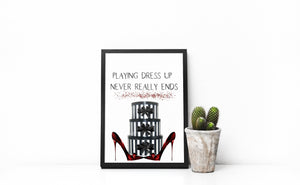 Luxury Shoes Wall print, Shoe Box print, funny quote print, designer shoes print, home decor, quote print, fashion art, girly