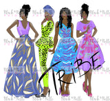 Tribe IV Fashion sketch, African Fashion, Portrait, African Art, Digital Art, Digital Print, Home Decor, Black woman art
