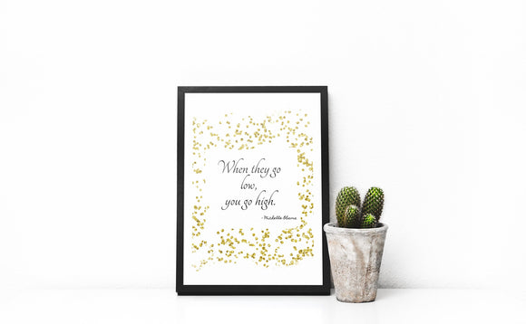 Inspirational Wall print, Motivational Quote, Famous quote wall print, glitter wall art, home decor, quote print, fashion print, girly