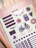 Lavender Planner and Journal Stickers