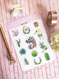 Succulents Planner Stickers For Botanical Lovers