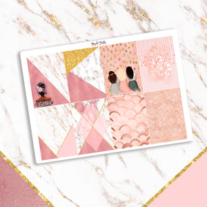 Rose Gold and Marble Full Box Planner Stickers