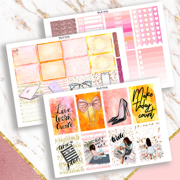 Work and Create Full Kit Planner Stickers
